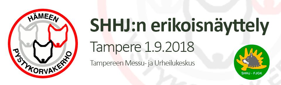 SHHJ:n erikoisnäyttely 1.9.2018