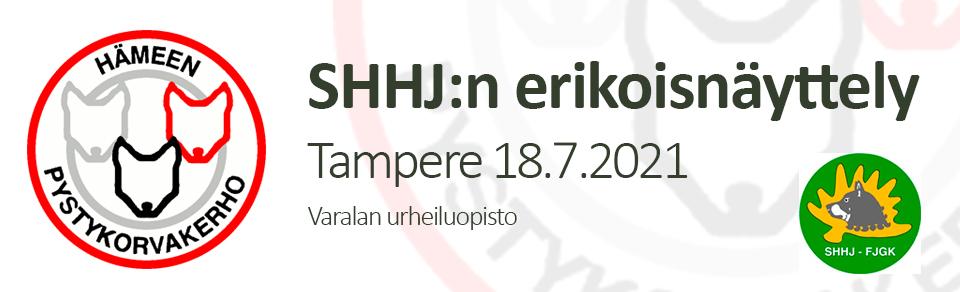 SHHJ:n erikoisnäyttely 18.7.2021